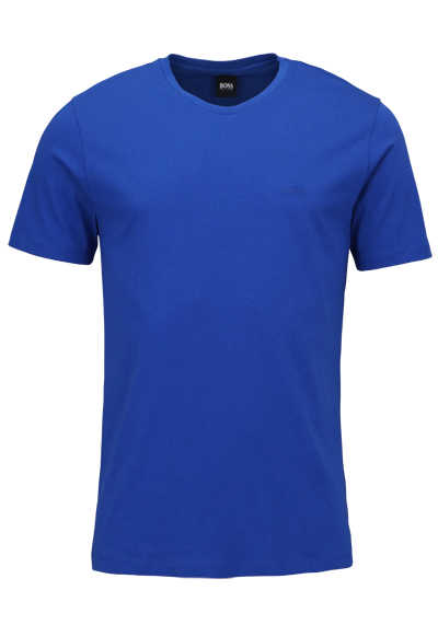BOSS Halbarm T-Shirt LECCO 80 Rundhals Regular Fit mittelblau