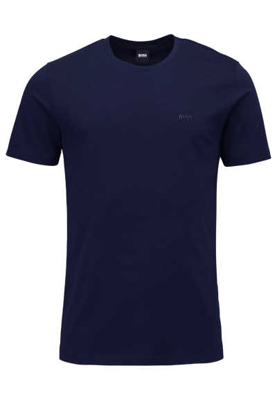 BOSS Halbarm T-Shirt LECCO 80 Rundhals Regular Fit nachtblau