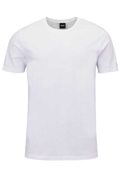 BOSS Halbarm T-Shirt LECCO 80 Rundhals Regular Fit weiß