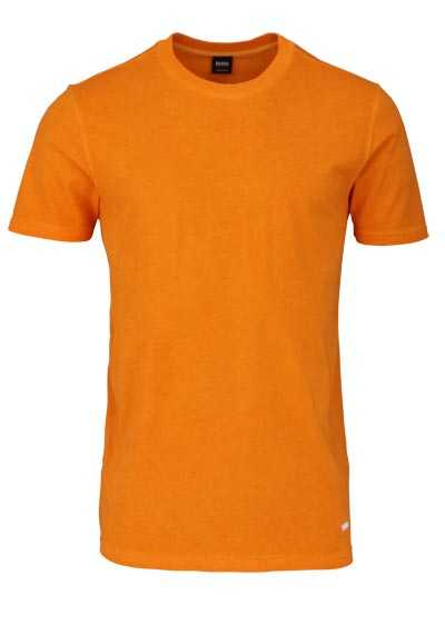 BOSS Halbarm T-Shirt TOXX Rundhals Stretch Baumwolle orange preisreduziert