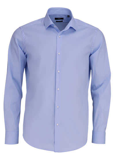 BOSS Regular Fit Hemd GORDON Langarm hellblau