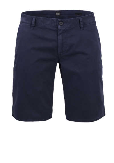 BOSS Regular Fit Shorts SCHINO Baumwollmischung navy