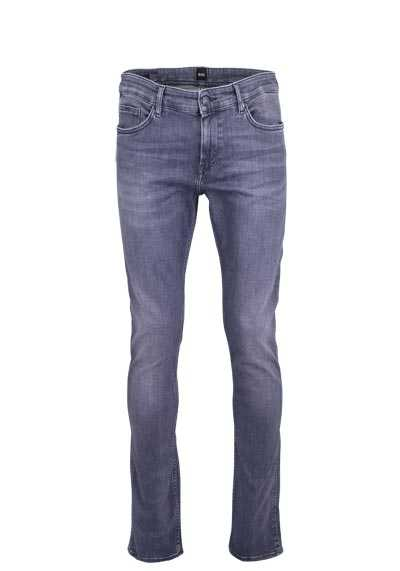 BOSS Slim Fit Jeans DELAWARE3 Used 5 Pocket mittelgrau