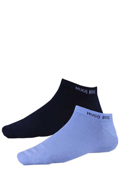 BOSS Sneaker Socken 2P AS COLOR CC Doppelpack nachtblau/blau