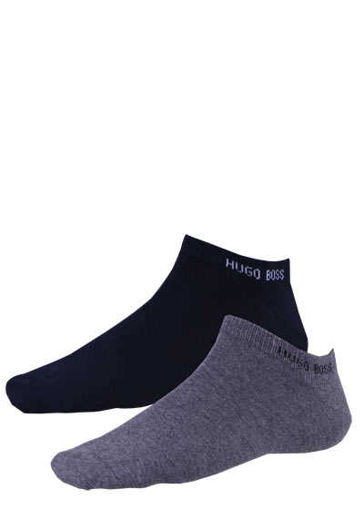 BOSS Sneaker Socken 2P AS COLOR CC Doppelpack schwarz/anthrazit