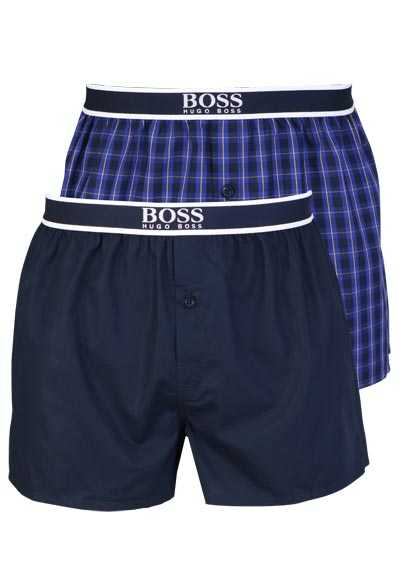 boss web boxershorts gummibund baumwolle uni nachtblau. Black Bedroom Furniture Sets. Home Design Ideas