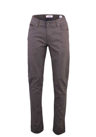 BRAX Regular Fit Hose COOPER C 5 Pocket Stretch mittelbraun