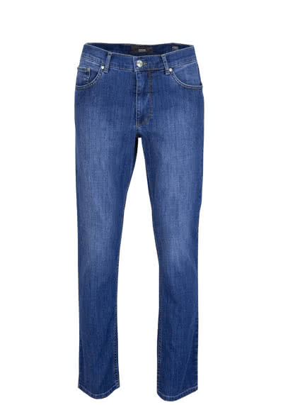 BRAX Regular Fit Jeans COOPER-DENIM Stretch mittelblau preisreduziert