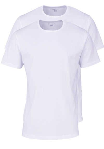 BUGATTI Halbarm T-Shirt Rundhals Single Jersey Doppelpack weiß - Hemden Meister