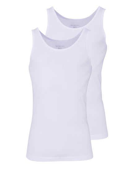 BUGATTI ärmelloses Tanktop Rundhals Single Jersey Doppelpack weiß - Hemden Meister