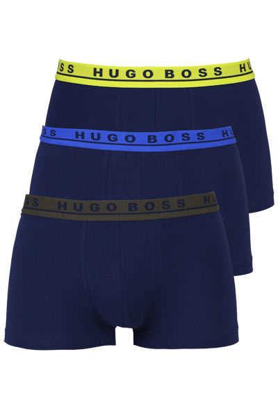 BOSS Boxershorts verschiedene Bundfarben 3er Pack nachtblau - Hemden Meister