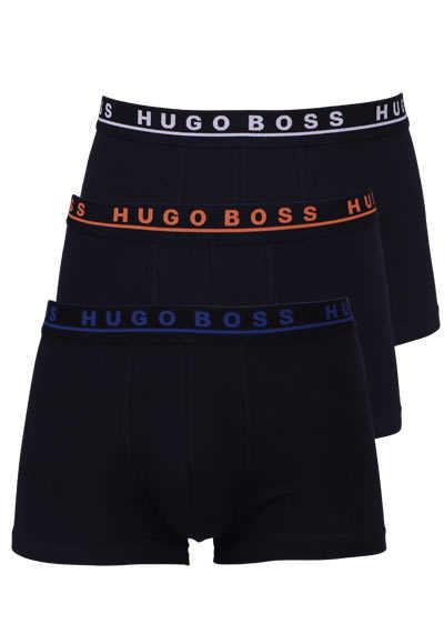 BOSS Boxershorts breiter Gummibund mit Logoschriftzug 3er Pack schwarz - Hemden Meister