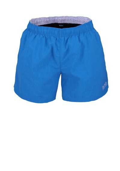 BOSS Badeshorts Logoschriftzug Eingrifftaschen wasserblau - Hemden Meister