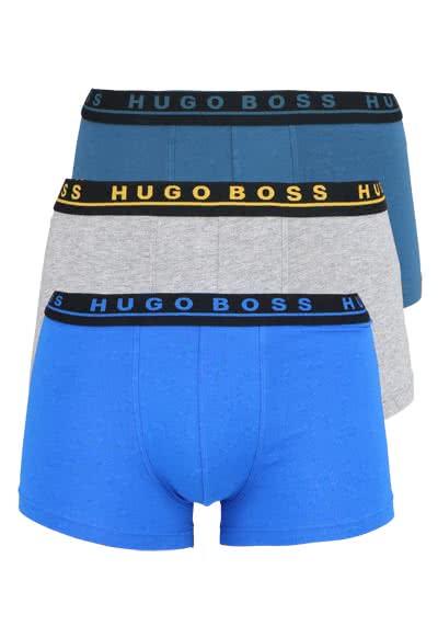 BOSS Boxershorts 3er Pack dunkelblau/petrol/mittelgrau - Hemden Meister
