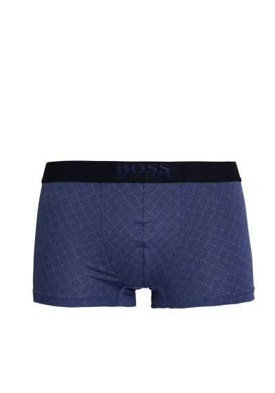 BOSS Boxershorts breiter Gummibund mit Logoschriftzug Muster blau - Hemden Meister