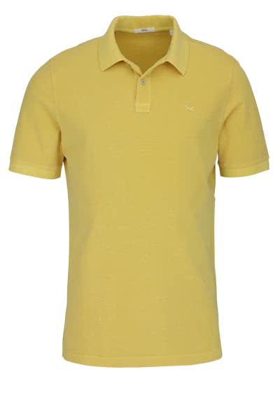 BRAX Halbarm Poloshirt PELE geknöpfter Kragen Logo Stick senfgelb - Hemden Meister
