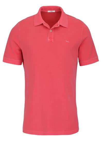 BRAX Halbarm Poloshirt PELE geknöpfter Kragen Logo Stick lachs - Hemden Meister