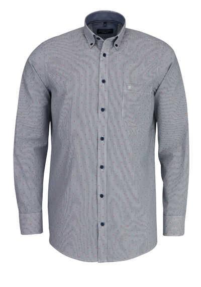 CASAMODA Comfort Fit Hemd Langarm Button Down Kragen Streifen blau