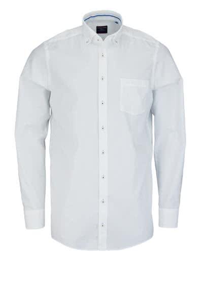CASAMODA Comfort Fit Hemd extra langer Arm mit Besatz weiß - Hemden Meister