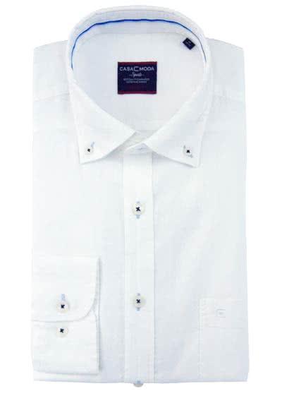 CASAMODA Comfort Fit Hemd super langer Arm mit Besatz weiß AL 72