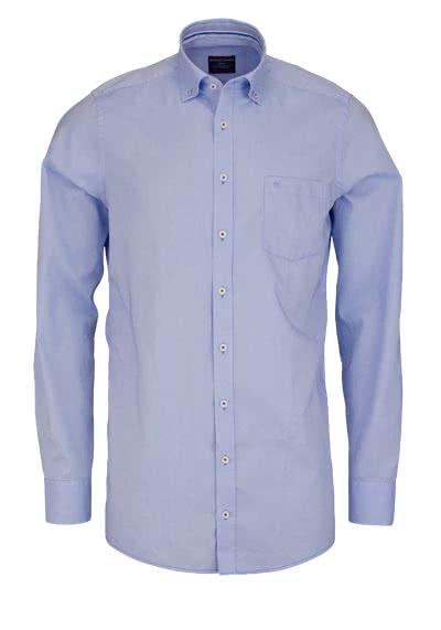CASAMODA Comfort Fit Hemd extra langer Arm mit Besatz aqua - Hemden Meister