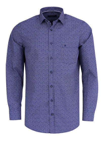 CASAMODA Comfort Fit Hemd super langer Arm Muster dunkelblau - Hemden Meister