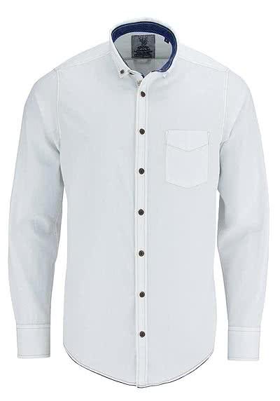 CASAMODA Wiesn Special Hemd Langarm mit Brusttasche weiß - Hemden Meister