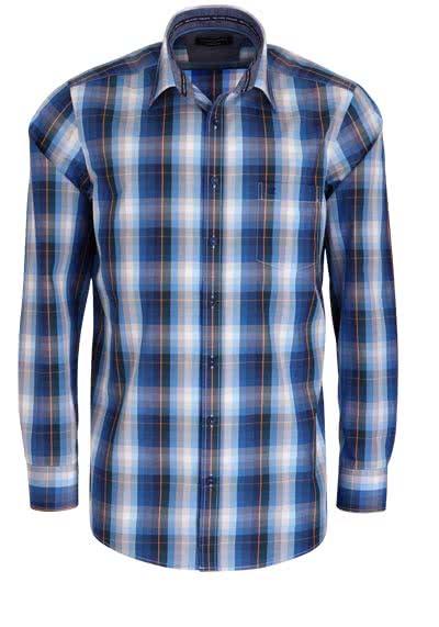 CASAMODA Comfort Fit Hemd super langer Arm Karo blau - Hemden Meister