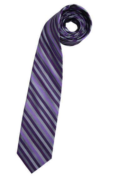 CASAMODA Krawatte extra lang reiner Seide 8 cm breit Streifen lila - Hemden Meister