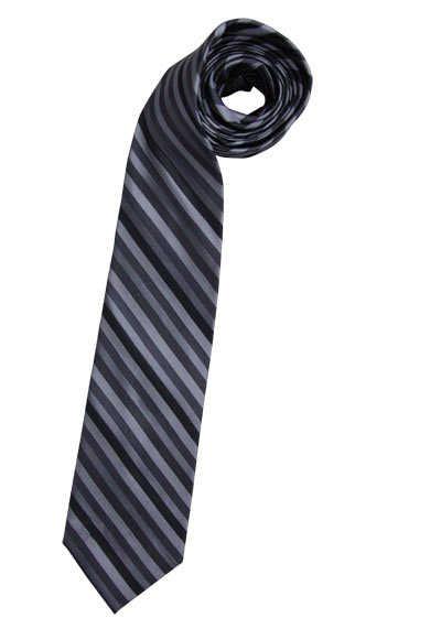CASAMODA Krawatte extra lang reiner Seide 8 cm breit Streifen grau - Hemden Meister
