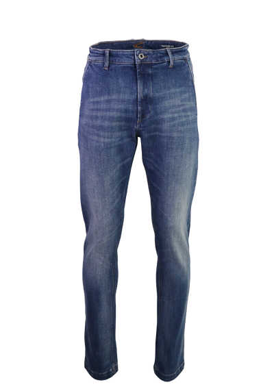 CAMEL AVTIVE Tapered Fit Jeans Used Ziernähte mittelblau