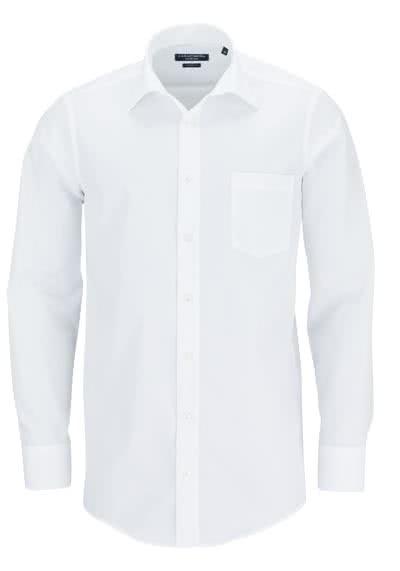 CASAMODA Comfort Fit Hemd Langarm New Kent Kragen Popeline weiß - Hemden Meister