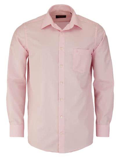 CASAMODA Comfort Fit Hemd Langarm New Kent Kragen Popeline rosa - Hemden Meister