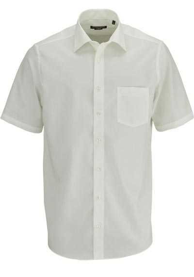 CASAMODA Comfort Fit Hemd Halbarm New Kent Kragen Popeline beige - Hemden Meister