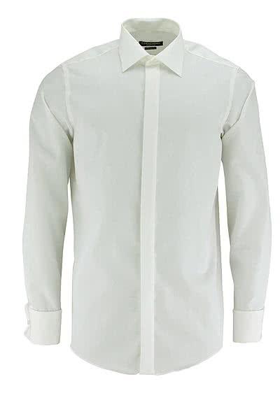 CASAMODA Gala Hemd Langarm ohne Manschettenknopf Popeline beige - Hemden Meister