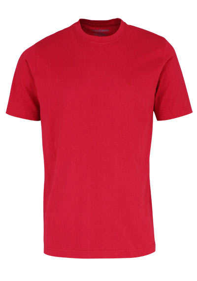 CASAMODA T-Shirt mit Rundhals reine Baumwolle chianti - Hemden Meister