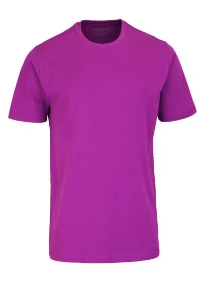 CASAMODA T-Shirt mit Rundhals reine Baumwolle aubergine - Hemden Meister