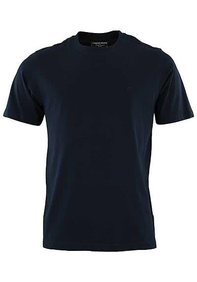 CASAMODA T-Shirt mit Rundhals reine Baumwolle navy - Hemden Meister