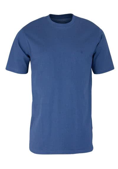 CASAMODA T-Shirt mit Rundhals reine Baumwolle nachtblau - Hemden Meister