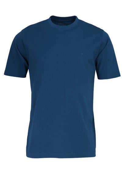 CASAMODA T-Shirt mit Rundhals reine Baumwolle blau - Hemden Meister