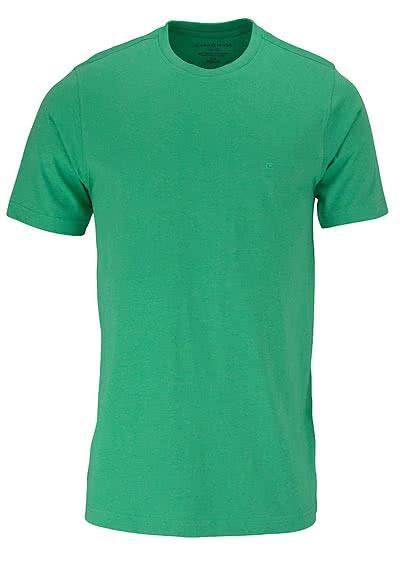 CASAMODA T-Shirt Rundhals reine Baumwolle mittelgrün - Hemden Meister