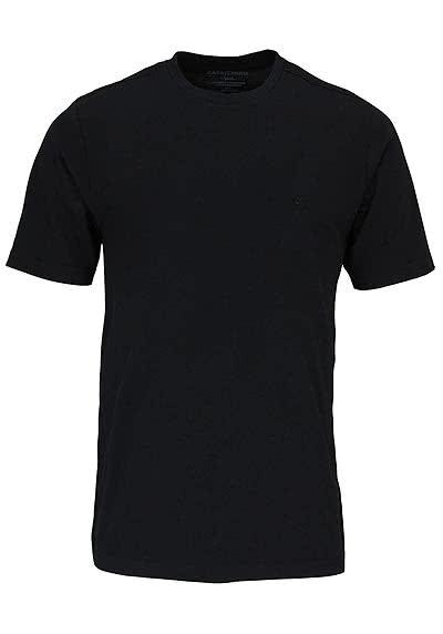 CASAMODA T-Shirt mit Rundhals reine Baumwolle schwarz - Hemden Meister