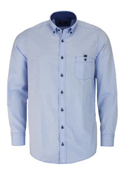 CASAMODA Comfort Fit Hemd Langarm Button Down Kragen Oxford hellblau - Hemden Meister