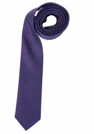 CASAMODA Krawatte aus reiner Seide 6 cm breit Muster pflaume - Hemden Meister