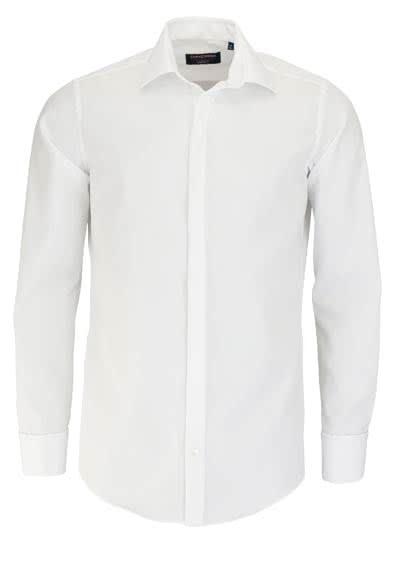 CASAMODA Gala Hemd Langarm ohne Manschettenknopf Popeline weiß - Hemden Meister
