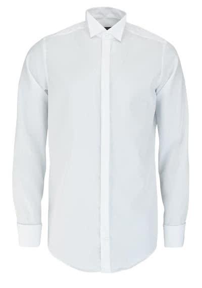 CASAMODA Gala Hemd Langarm Kläppchenkragen Popeline weiß - Hemden Meister