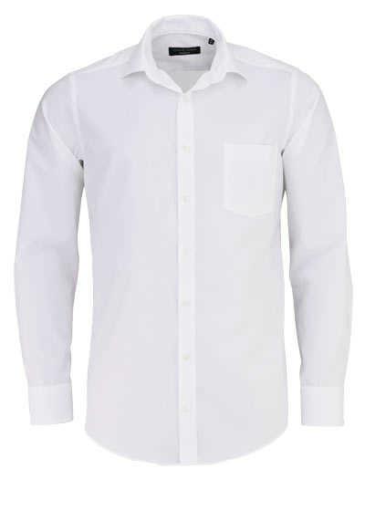 CASAMODA Modern Fit Hemd Langarm New Kent Kragen Popeline weiß - Hemden Meister