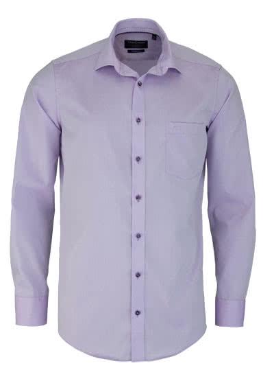 CASAMODA Modern Fit Hemd Langarm New Kent Kragen Chambray flieder - Hemden Meister