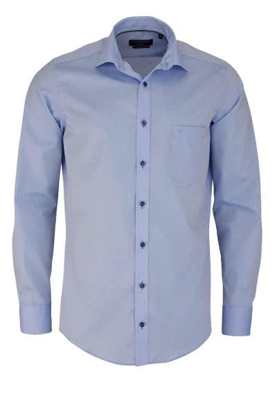 CASAMODA Modern Fit Hemd Langarm New Kent Kragen Chambray hellblau - Hemden Meister