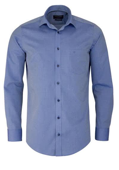 CASAMODA Modern Fit Hemd Langarm New Kent Kragen Chambray mittelblau - Hemden Meister